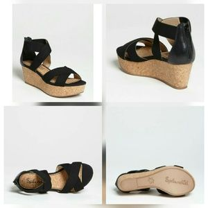 Splendid Wishful Cork Leather Platform Sandal